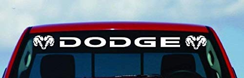 SUPERSTICKI compatibel met Dodge Ram HEMI Windshield Logo 1500 2500 3500 Vinyl Decal Sticker Vinyl Gift (50