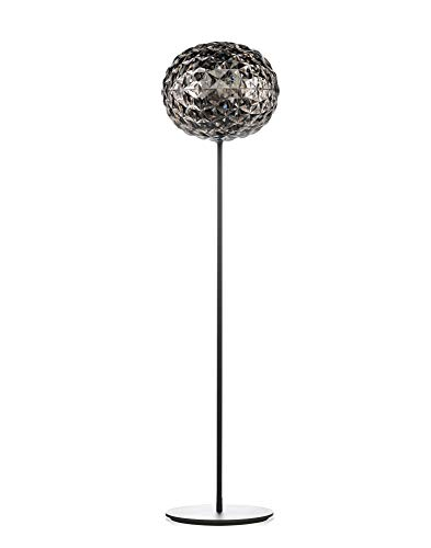 Kartell Planet Lampada da Terra, H. 130 cm, Dimmerabile, Grigio(Fumè)