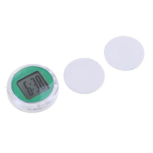 Homyl Mini Horloge Numérique de Moto Vélo Support Adhésif Imperméable - Vert