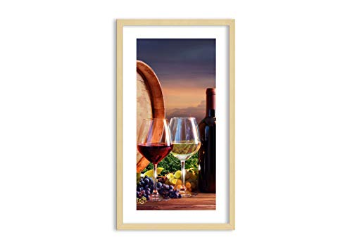 Bild im naturfarbenen Holzrahmen - Bild im Rahmen - Bild auf Leinwand - Leinwandbilder - Breite: 45cm, Höhe: 80cm - Bildnummer 4125 - zum Aufhängen bereit - Bilder - Kunstdruck - F1NPA45x80-4125
