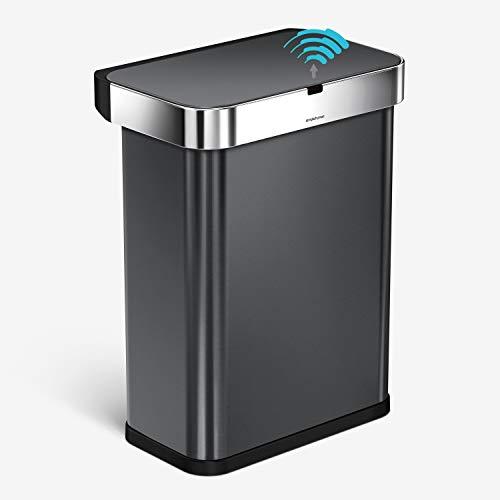 simplehuman Cubo Rectangular con Sensor controlado por Voz y