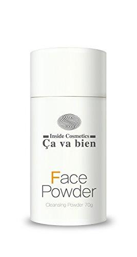 CAVABIEN Face Powder Gentle Foam Cleanser | Korean Natural Facial Wash | Vitamin C | Men Women Teens Babies | Sensitive Acne Aging | Dry Oily Combo Skin | 70 grams