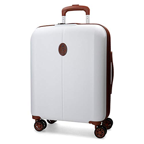 El Potro Ocuri Maleta de cabina Blanco 40x55x20 cms Rígida ABS Cierre TSA 37L 3,3Kgs 4 ruedas dobles Extensible Equipaje de Mano