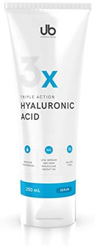 UB TRIPLE Hyaluronsäure Serum - 250 mL Hyaluron Gel Konzentrat - Hochdosiertes Niedrigmolekulares