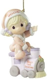 Precious Moments Baby's Girl First Christmas Ornament 2006