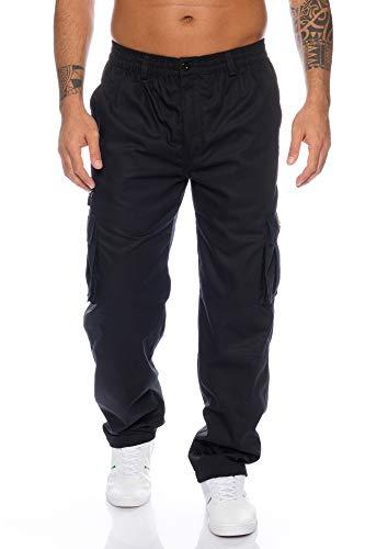 Fashion Herren Thermohose mit Dehnbund - mehrere Farben ID553, Größe:M;Farbe:Schwarz