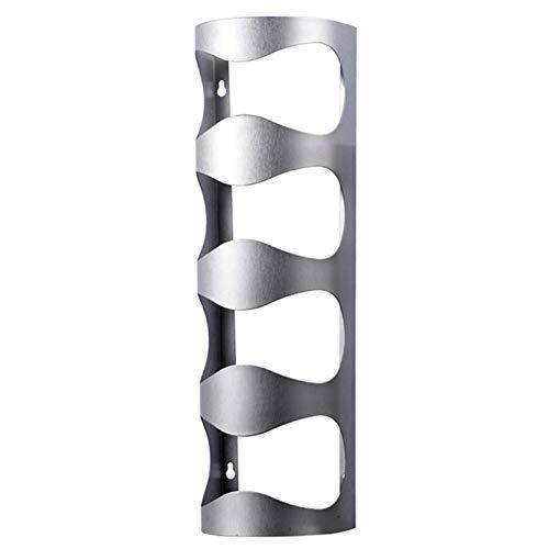 4 botellas de suspensión del soporte de exhibición de la uva de vino de la botella de vino en rack soportes de pared de acero inoxidable de la barra del organizador del almacenaje del estante del sopo