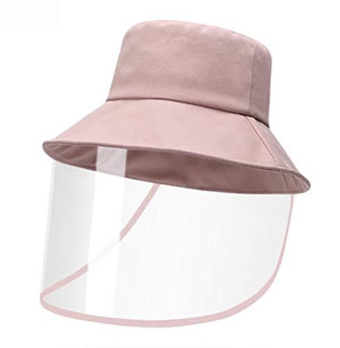 Fischer Hut Staub- Speichel Sonnenschutz Gesichtsschutzabdeckung for Männer und Frauen (Color : Pink, Size : 55cm-60cm)