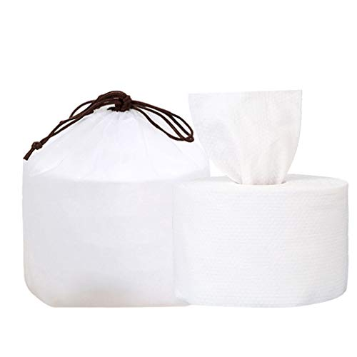 Pwtchenty Toilettenpapier Einweg-Reinigungstuch Mehrzweck-Make-up-Baumwolle zum Waschen des Gesichts Einweg Papierhandtücher Kosmetiktücher