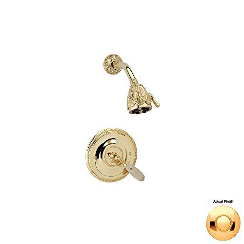 Best Buy! Phylrich PB3338D_025 - Valencia Pressure Balance Shower Set Beige Marble Lever Handles