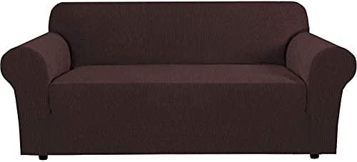 JJDSN Juego de sofás elásticos para el hogar con 3 Alfombrillas para Envolver con Arena, Funda Protectora para el sofá de la Sala de Estar, Jacquard ganta pequeño Suave y Grueso, extraíble