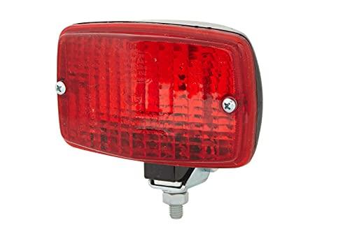 HELLA 2NE 002 985-001 Feu antibrouillard arrière - 12V - Montage en saillie - Couleur du voyant: rouge - Fiche: Fiche plate - arrière/gauche/droite