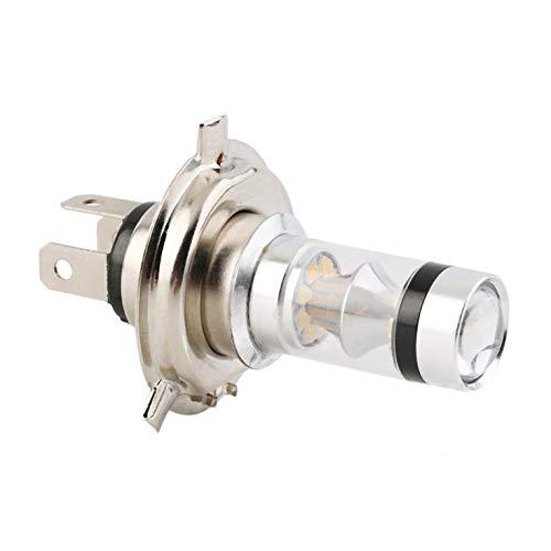 QiKun-Home H4 100W 12-24V Auto Car Luz antiniebla 20 SMD LED 6000k Señal Luz de Advertencia de Marcha atrás Bombilla de luz de Cabeza de conducción de Seguridad Blanco