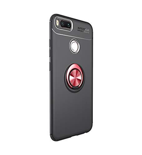 Funda Xiaomi Mi A1 Teléfono Móvil Silicona Bumper Case Funda con Anillo Giratorio de 360 Grados Rotaria Ring Holder Protectora Caso (6, Xiaomi Mi A1)