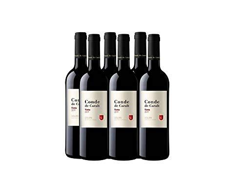 Conde De Caralt Vino Tinto - 0,75 l - Pack de 6 botellas - 4500ml