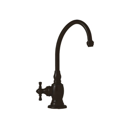Waterstone 1250H-ORB Hampton Filtration Faucet Hot Only with Single Cross Handle, Black Oil Rubbed Bronze