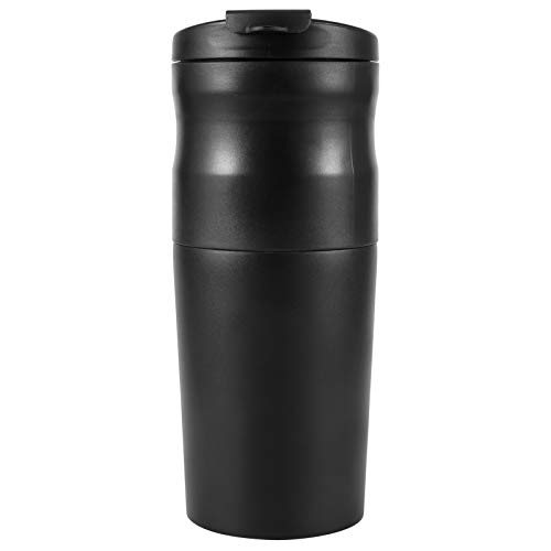 Molinillo de café eléctrico, molinillo de granos de café de acero inoxidable 3 en 1, filtro de preparación de café, molino de café con cable USB, cafetera portátil para café, granos(negro)