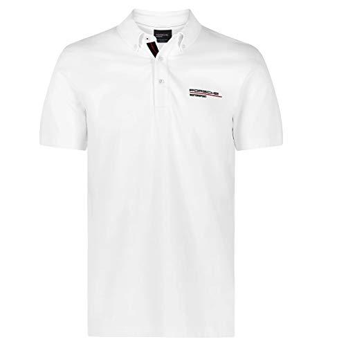 Porsche Motorsport Herren Poloshirt, Weiß, Größe M