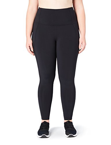 Core 10 Women's Onstride Plus Size High Waist Run Legging, Black, 1X (14W-16W) -Short