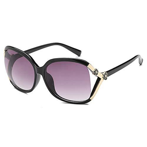 FGKING Moda Vintage Redondo Estilo Uv400 protección Gafas de Sol polarizadas, plástico de Acero Inoxidable Gafas de Marco Grande para Las Mujeres,D