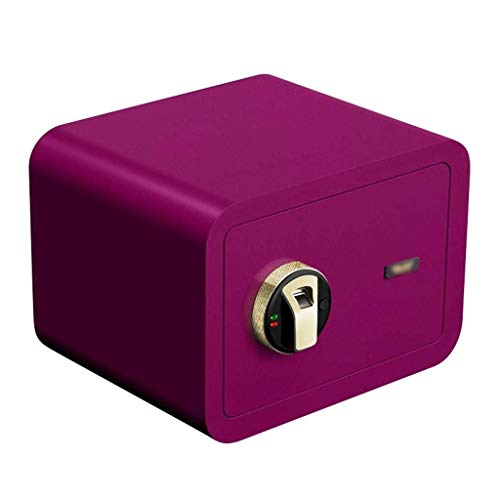 ZBM-ZBM Safes, Veiligheid Vingerafdruk Veilig Thuis Kleine Safe Box Office Vingerafdruk Wachtwoord Alle Staal Anti-diefstal Koffer kan worden verborgen in de muur nachtkastje Waardevolle Kluis kluisjes sleuteldoos Paars