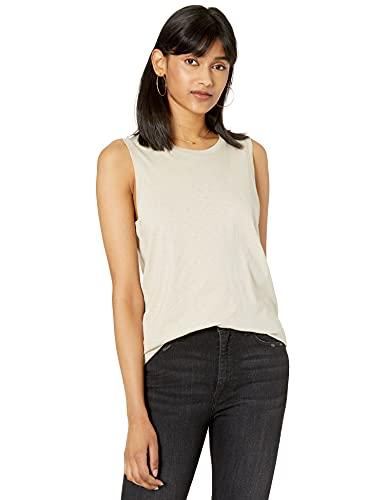 The Drop Nicole Camiseta sin mangas de estilo gimnasio de cuello redondo Mujer