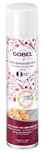 Gobel – Spray desmoldado fácil – Fabricado en Francia a base de 100% aceite vegetal – Reduce la adherencia de los preparativos al soporte de cocción – sin sabores ni olores