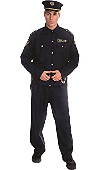 Dress Up America Adult Police Officer Costume Set,Navy,Large  38  waist 71  height