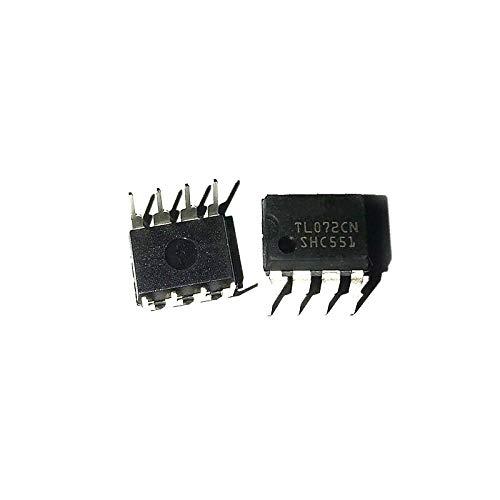 10PCS 10pcs / Lot J-FET Verstärker 2 Stromkreis 8-DIP TL072CN