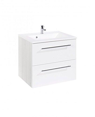 Held Möbel Bolgona Waschtisch, Holzwerkstoff, Weiß, 48 x 60 x 54 cm