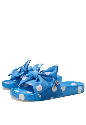 Slydes Cath Kidston Button Spot Damen Sandalen Rutschen Blue White - 38 EU