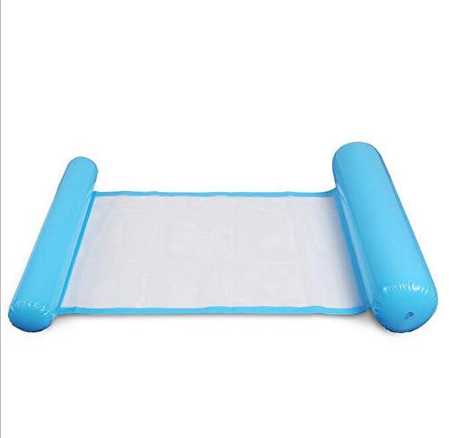 HYFZY Aufblasbare Sich hin- und herbewegende Wasser-Hängematte, FloatingPool Bett in der Luftmatratze-Floss-Sofa-Stuhl-Swimmingpool-aufblasbaren,Blue