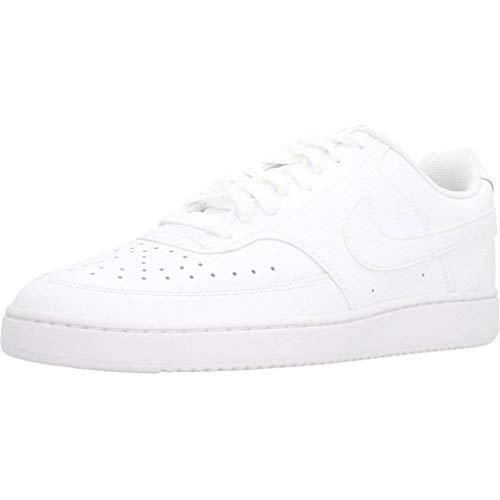 Nike Herren Court Vision Lo Sneaker, White/White-White, 44.5 EU