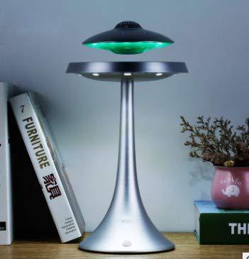 aikeec altavoz subwoofer suspensión magnética para altavoz OVNI inteligente, luz de escritorio Bluetooth, lámpara de mesa LED, cambio de color inalámbrico, regalo