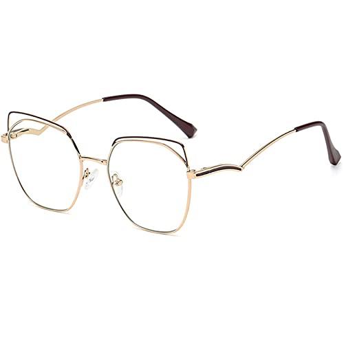 BDBY Gafas de Sol polarizadas, Fashion Retro Señoras de Metal Rectangular Moda Gafas de Sol UV 400 Protectores Anti-Blue E-Sports Goups A