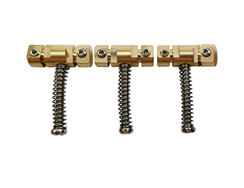 """Roller Saddles Set of 6 Tremolo//Bridge Saddles for Strat Tele Guitar 2 1//8/"""" 54mm"""