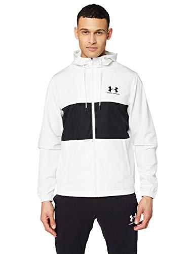 Under Armour Sportstyle Wind Jacket Felpa, Uomo, Bianco, XL
