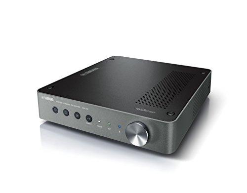 Yamaha MusicCast WXC-50 Preamplificatore audio wireless, ideale per la diffusione sonora di musica in streaming – Multiroom, WiFi, Bluetooth 2.1, Airplay, Design retrò moderno, Argento scuro