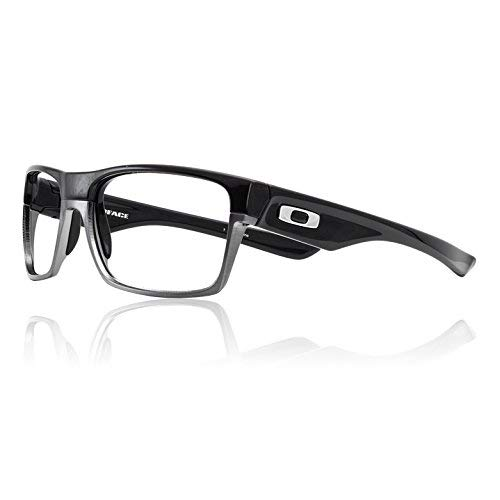 Oakley TwoFace Leaded X-Ray Safety Radiation Protection Glasses (Polished Black w/Steel) | AR Anti-Reflective No Fog Lens Coating