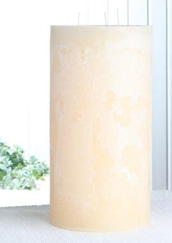 Rustik-Dreidochtkerze, 30 x 15 cm Ø, creme