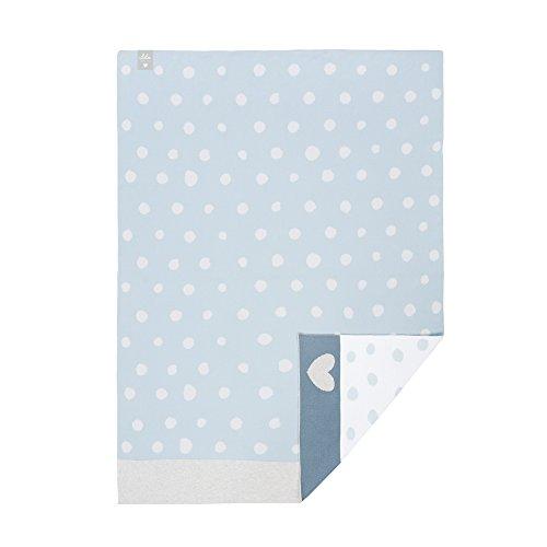LÄSSIG Baby Krabbeldecke Strickdecke Spieldecke Schmusedecke Kuscheldecke GOTS zertifiziert weich/Baby Blanket Lela