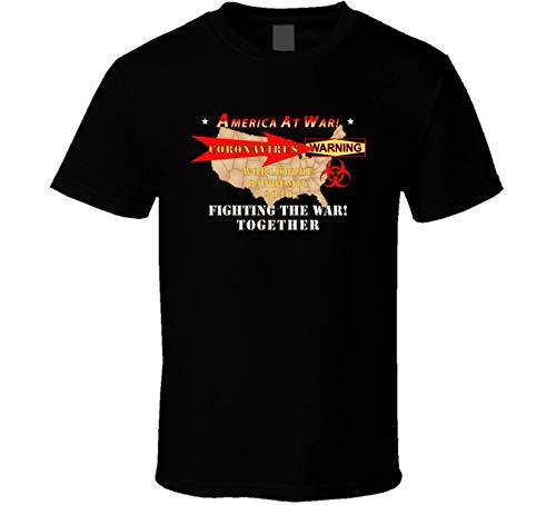 Govt - America at War - Coronavirus - T Shirt (Black, Medium)