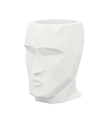 Maceta ADAN – Blanco, 13 x 18 x 18 cm