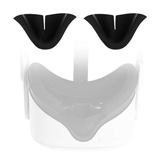 Seltureone (2 Stück) Kompatibel für Oculus Quest 2 VR Nasenpolster Gegen Leckage, Schwarz
