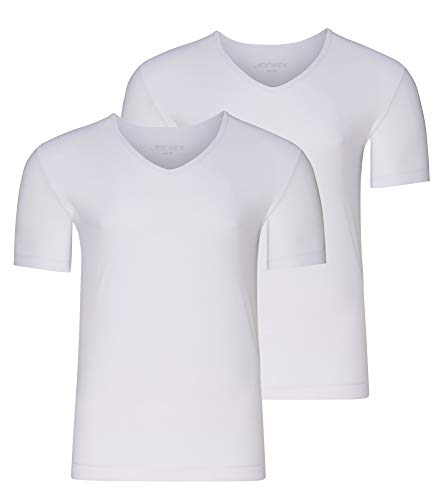 Jockey Microfiber Air V-Neck Shirt 2Pack, White, M