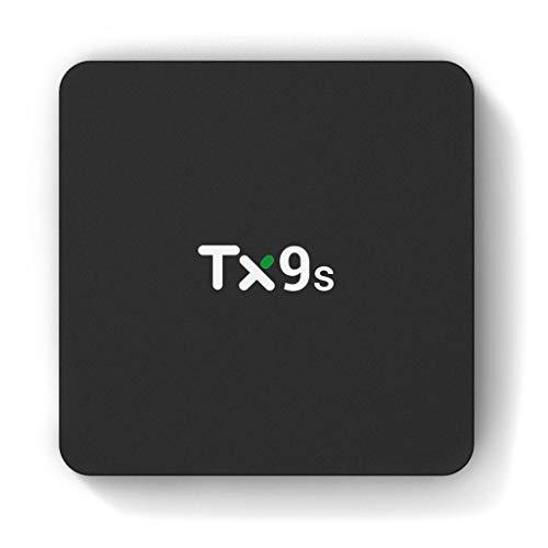 wji Decodificador TX9S, 2 + 8G, 4K 60fps 2.4G WiFi 1000M TV Box, para Smart TV Box - Estándar Europeo