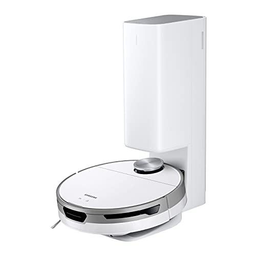 SAMSUNG Jet Bot+ Robot Vacuum with Clean Station, Automatic Emptying, Precision Cleaning, 5 Layer HEPA Filter, Intelligent Power Control, Hardwood Floors,Carpets, and Area Rugs, White