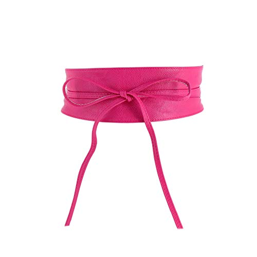 Fashiongen - Cinturón obi cuero artificial Mica - Fucsia, L-XL