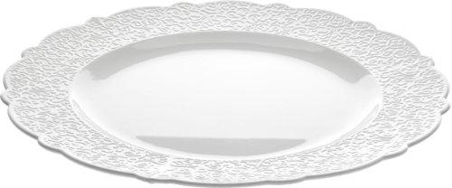 Alessi Dressed Platte rund Porzellan Weiss, 2 x 35.5 x 33 cm