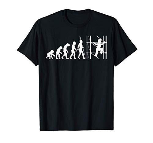 Evolution andamio andamios artesano Sitio de construcción Camiseta